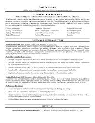 Medical Technician Of Detal Oriented Experienced With Resume