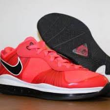 lebron 8 low. $220.00 nike lebron 8 v/2 low solar red