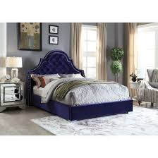 Madison Bedroom Furniture Madison Velvet Bed Multiple Colors Sizes By Meridian Furniture