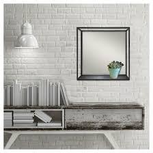 square metal decorative wall mirror