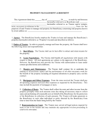 Property Contract Templates New Sample Property Management Agreement Charlotte Clergy Coalition