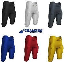 Champro Integrated Mens Football Pants Game Pants W Pads S