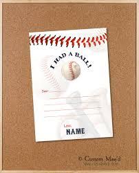 Teen Baseball Thank You Cards Tween Baseball Thank You Card Sports