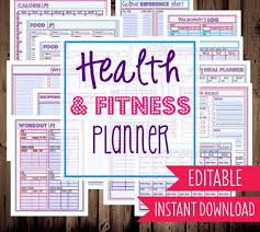 Health And Exercise Organizer Submit Food Exercise Track Weight