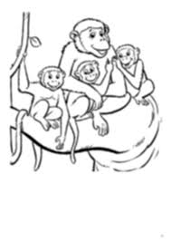 Monkey Family Coloring Pages Coloringstarpdf Monkey Family