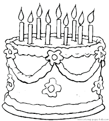 Coloring Pages Of Cakes Birthday Cake Coloring Pages Coloring Pages