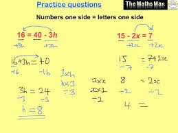 maths linear equations questions solving simple linear equations practice questions and answers on grade math worksheets
