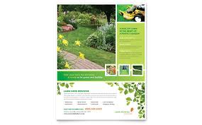 lawn care advertising templates lawn mowing service flyer template word publisher