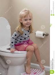 Cute Little Girl Potty Training Stock Photo Image Of