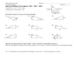 Special Right Triangles Worksheet | Homeschooldressage.com
