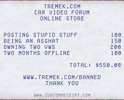 Make your own fake Receipts - Tremek Car Videos - Street Car Drag ...