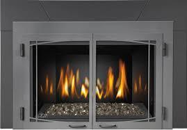 ... Amazing Modern Fireplace Doors With Napoleon Zen Modern Door Kit With  Operable Double Doors For IR ...