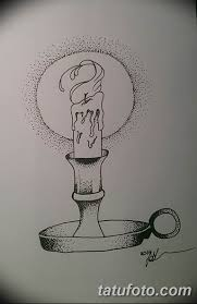 эскиз тату свеча 12082019 016 Sketch Tattoo Candle Tatufoto