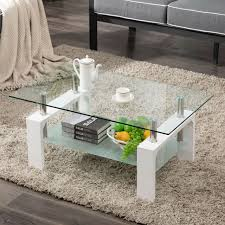 square metal glass cocktail table for