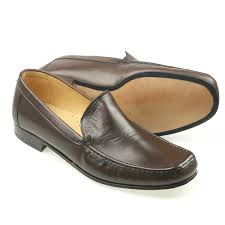 bari mens brown leather italian loafer tap to expand