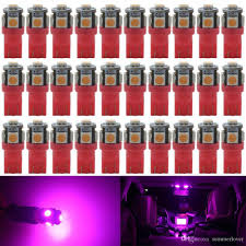 Purple Led Interior Dome Lights 200pcs Super Bright Pink Purple T10 Wedge 5 Smd 5050 Led Side Tail Plate Parking Dome Plate Light Bulbs W5w 2825 158 2825