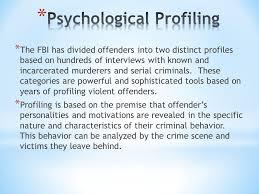 psychology of homicide unit iv ppt video online psychological profiling