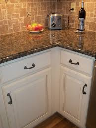 white cabinets with baltic brown granite colors for small kitchen