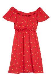 Trixxi Ditsy Floral Print Off The Shoulder Dress Big Girls