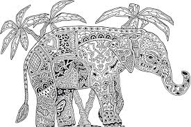 detailed animal elephant coloring pages for teenagers other free coloring pages