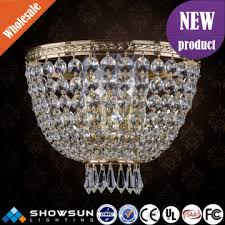 simple design guangzhou asfour crystal classical wall lamp