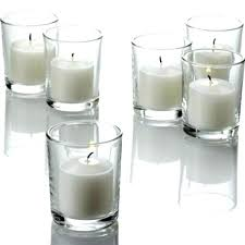bulk votive candles with glass holders mini tapered cylinder shot tealight candle clear sh