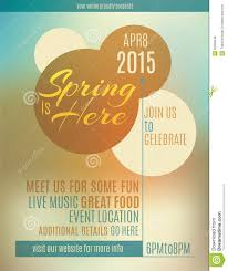 Spring Flyer Template Spring Flyer Template Design Stock Vector Illustration of event 1
