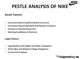 pestle analysis swot analysis assignment pestle swot case  swot and pestle analysis of nike