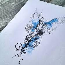 Abstract Watercolor Angel Tattoo татуировки идеи для татуировок