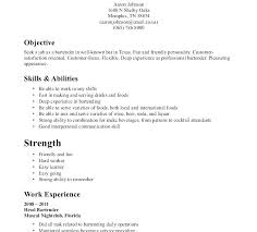 Sample Bartending Resume Professional Resume Resume Format For ...