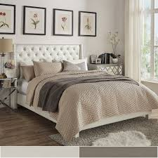 Aurora Faux Leather Crystal Tufted Nailhead Wingback Bed by INSPIRE Q.  Guest BedroomsMaster ...