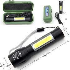 Đèn pin siêu sáng MINI móc cài, đèn led bỏ túi ,sạc cổng usb ,có zoom có  led chớp , nhiều chế độ đèn   THE RISE