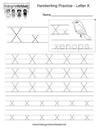 Writing Practice Worksheet Letter X Writing Practice Worksheet Free Kindergarten