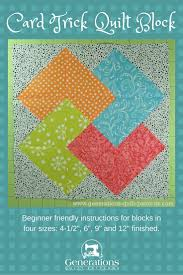 Card Trick Quilt Block from our Free Quilt Block Pattern Library ... & Card Trick Quilt Block from our Free Quilt Block Pattern Library Adamdwight.com