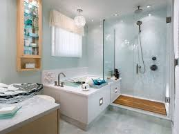 contemporary small bathroom with modern crystal chandelier and frameless shower ideas