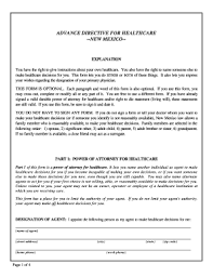 Advance Directive Forms