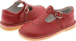 Lamour Girls Classic 751 Red Leather Mary Janes Fashion