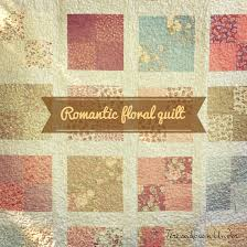 Romantic floral lap quilt free pattern: easy pattern for beginners ... & Romantic floral lap quilt free pattern: easy pattern for beginners Adamdwight.com