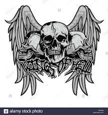 Gothic Skull Design Gothic Sign With Skull Grunge Vintage Design T Shirts Stock