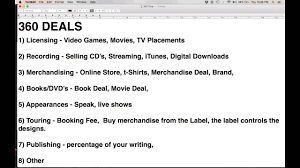 what is a 360 deal lecture from how to get a record deal course