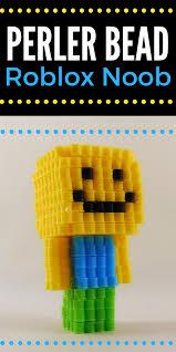 Make Roblox Easy To Make Roblox Noob 3d Perler Bead Pattern Crafts Perler