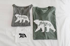 diy tutorial for mama papa and baby bear t shirts