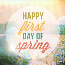 first day of spring image