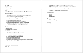 Collection Agent Resume Resume Sample Collection Agent