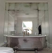 art deco style bathroom wall spashback