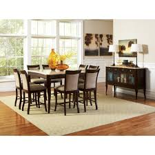 counter height dining table set. Steve Silver Marseille 9 Piece Marble Top Counter Height Dining Table Set - Dark Cherry Walmart.com I