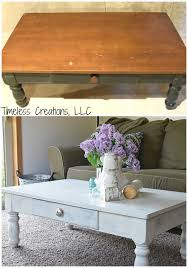 distressed coffee table timeless