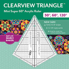 Clearview Triangle 60 degree Acrylic Ruler 8 inch designed by Sara ... & Clearview Triangle Mini Super 60 Acrylic Ruler Adamdwight.com
