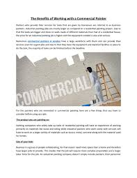 the benefits of working with a commercial painter by eell project management issuu