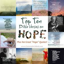 Bible Quotes About Hope Delectable Top Ten Bible Verses On Hope Christin Ditchfield